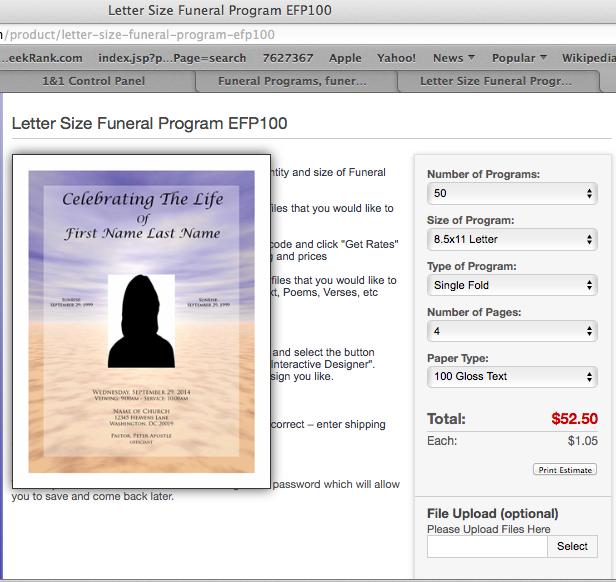 funeral program funeral program templates free funeral template